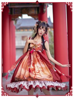 Mofina -Song of the Phoenix- Qi Lolita Headbow and Overskirt