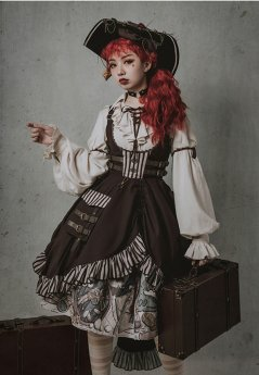 LdA -Puss in Boots- Punk Lolita JSK and Skirt