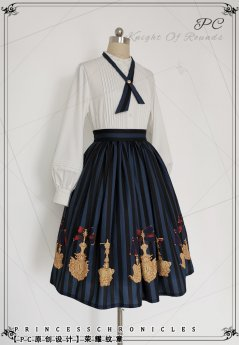 Princess Chronicles -The Glory of Arms- Lolita Skirt and Blouse with Necktie(Version I)