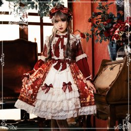 Cat Highness -Phoenix and Peony- Lolita OP Dress
