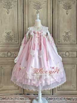 Alice Girl -Butterfly Word- Qi High Waist Lolita JSK