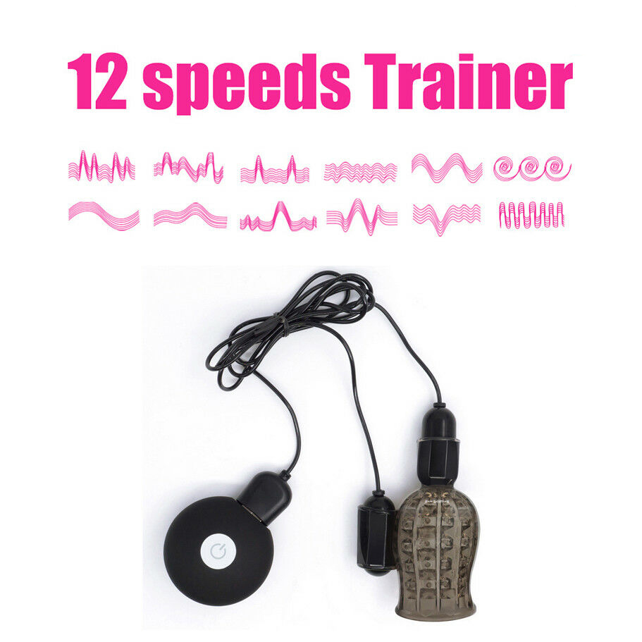 12 Speed Glans Trainer Vibrator Cock Ring