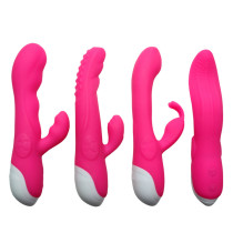 Rabbit Vibrator Waterpoof Vibrating Dildo Adult Sex Toy