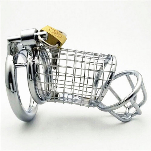 Male Virginity Lock CB Chastity Devices Stainless Steel