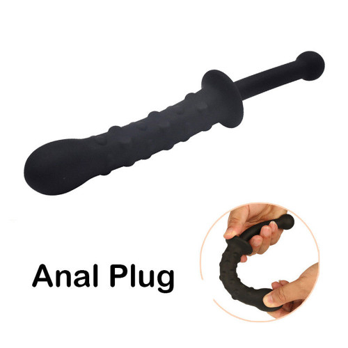 Silicone Anal Butt Plug Male Prostate Massager G Spot Dildo
