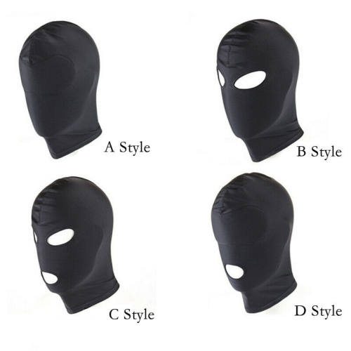 Full Face Bondage Hood Fetish Mask Sensory SM Slave Role-play Spandex Sex Toy