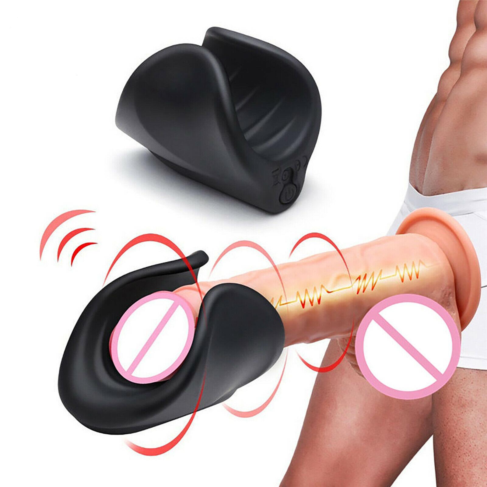 Male Masturbator 10 Speed Vibrator Penis Massager Silicone Adult Sex Toys
