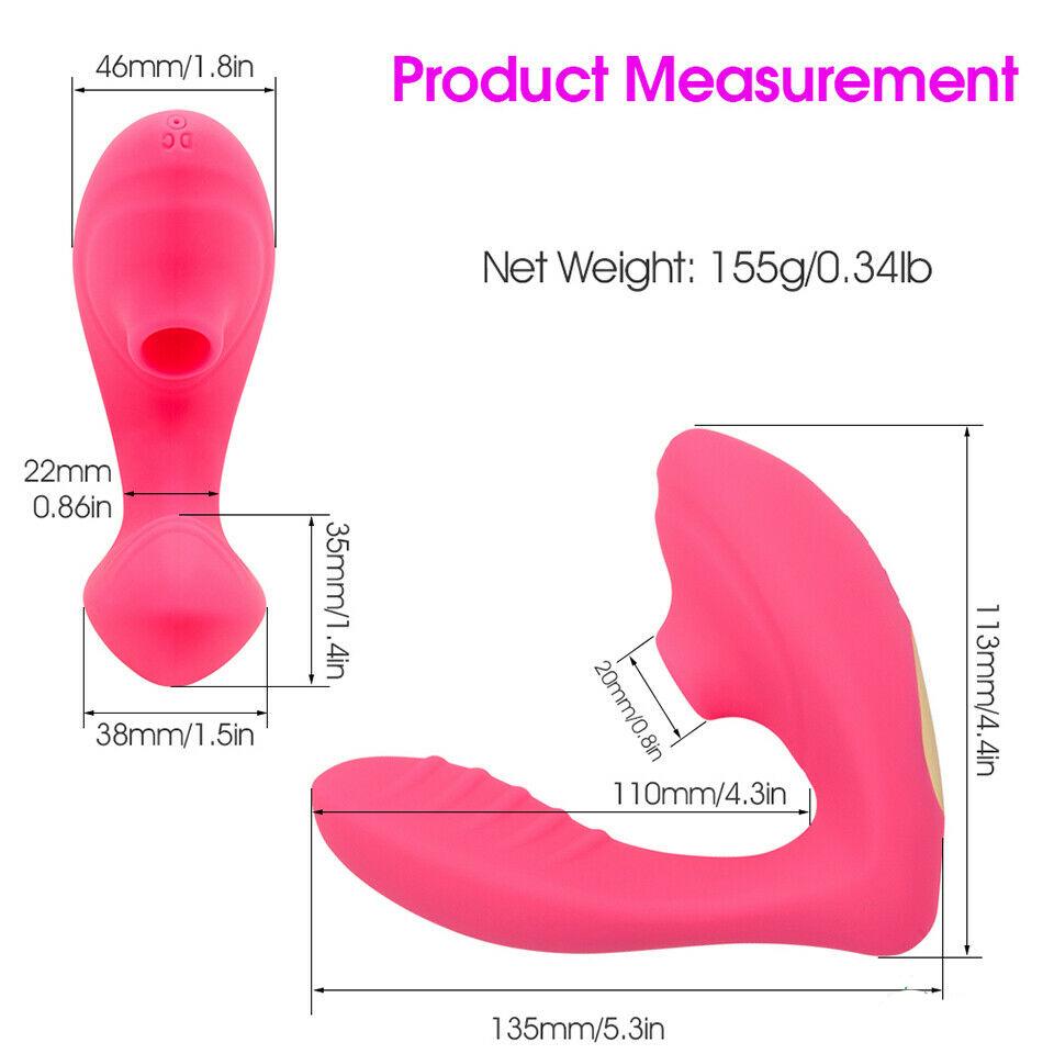 Sucking Vibrator Clitoris Stimulator 10 Speed Silicone Vibrating Dildo