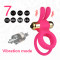 7 Speed Double Cock Ring Vibrating Rabbit Penis Ring Bullet Dual Pleasure