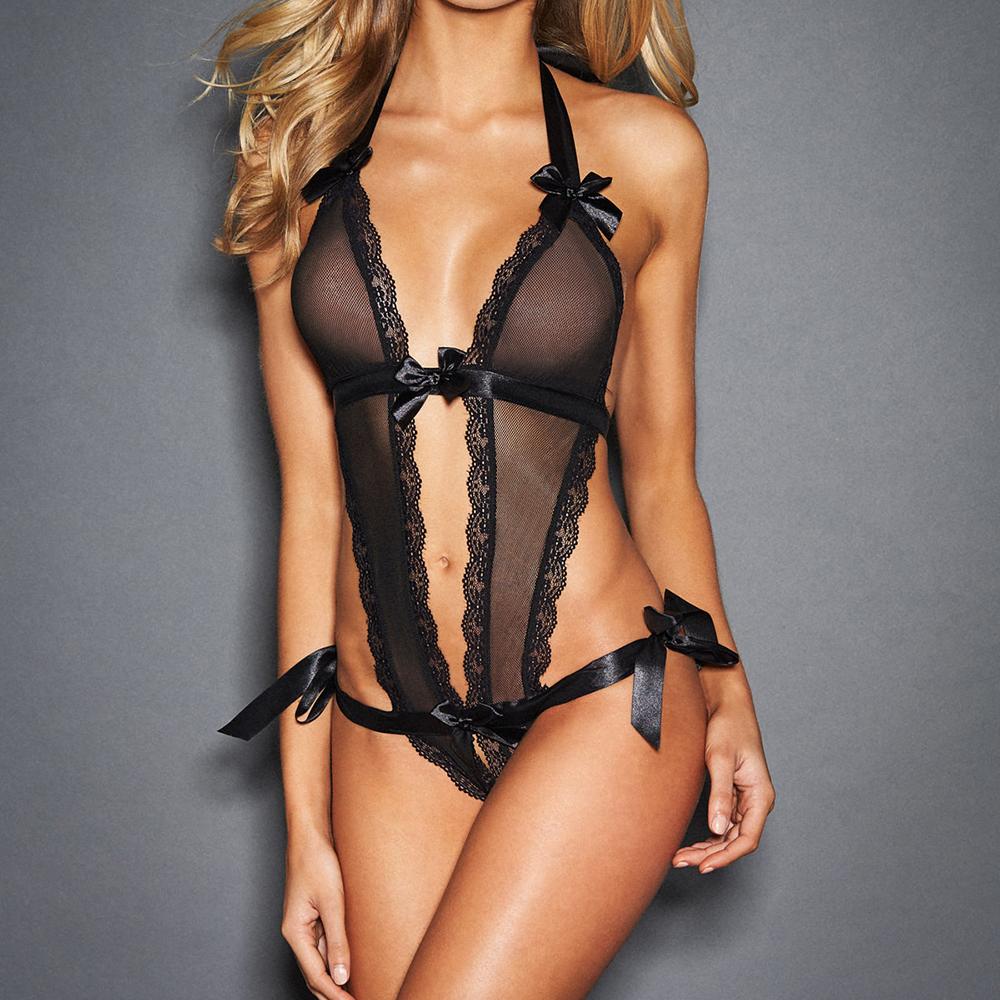 Lingerie Lace Babydoll G-String Thong Underwear Women