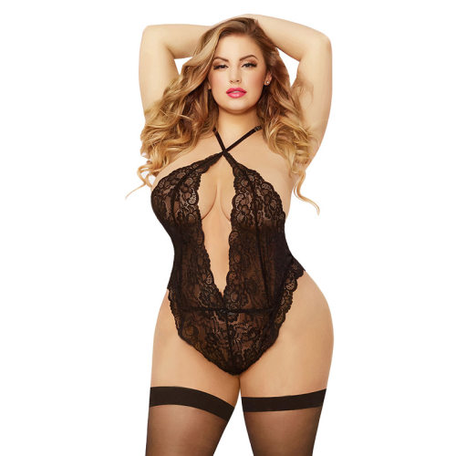 Sexy lace Siamese sexy lingerie hanging neck back