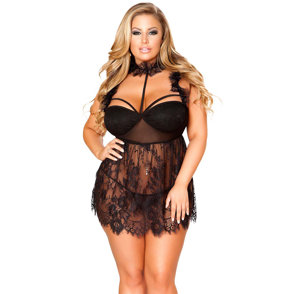Lace See-through Sexy Nightdress Sexy Suit