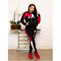 WGW Casual Tracksuit Hooded Long Sleeve Two Piece Suits ORY5079