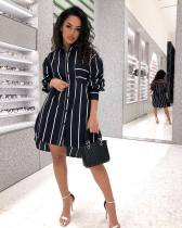 WGW Sexy Striped Long Sleeves Loose Shirt Dress YSF325
