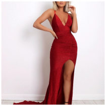 WGW Sexy High Split Straps Long Mermaid Evening Dress SM026