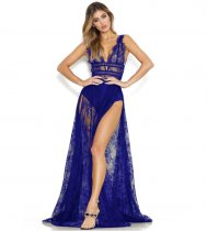 Blue Perspective Lace Nightclub Dress ZS0111