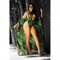 Printed 2pcs One Piece Swimsuit+Cover Up ME059