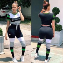 Casual Short Sleeve Sports Two Piece Set PN6142