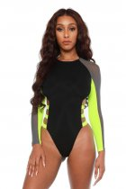 WGW Sexy Mesh Patchwork One Piece Swimsuit LSL6257