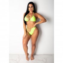 WGW Sexy 2pcs Swimsuits Hollow Out Bikinis Sets CHY1147