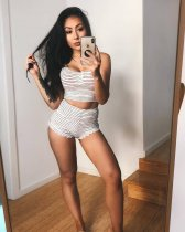 WGW Striped Sleeveless Tank Top And Shorts Fitness 2 Piece Set BGN002