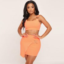 WGW Sexy Strppy Crop Top And Mini Skirt Two Piece Dress BY3258