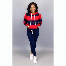 WGW Casual Tracksuit Hoodies Long Pants Two Piece Sets HZM9010