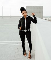 WGW Casual Tracksuit Long Sleeve Two Piece Suits IV8055