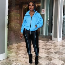 WGW Casual Tracksuit Long Sleeve Zipper Two Piece Sets ARM8129