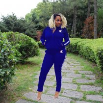 WGW Casual Tracksuit Long Sleeve Two Piece Sets QY5073