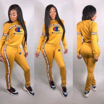 WGW Casual Long Sleeve Tracksuits Two Piece Suits ML7168