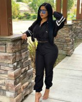 WGW Casual Long Sleeve Tracksuit Zipper Two Piece Sets PIIN8430