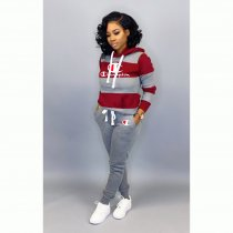 WGW Plus Size Casual Hoodies Two Piece Suits HGL1231