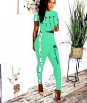 WGW Casual Sporty Short Sleeve Two Piece Suits YMT6068