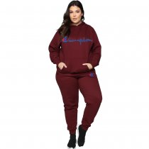 WGW Casual Tracksuit Hooded Two Piece Sets MEM8236
