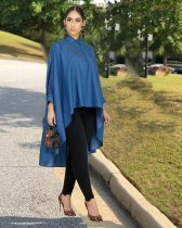 WGW Casual Batwing Sleeves High Low Loose Blouse Tops LDS3182