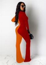 WGW Contrast Color Long Sleeve One Piece Jumpsuits YIY5114