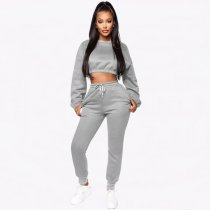 WGW Casual Sweatshirt Long Pants Two Piece Sets YMT6113