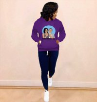 WGW Casual Printed Hooded Hoodies Sweatshirt MDF5097