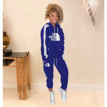 WGW Casual Sporty Hooded Two Piece Pants Sets KSN5093