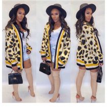 WGW Trendy Printed Pocket Knitted Cardigan Coats MA288