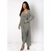 WGW Solid Long Cloak Tube JumpsuitsTwo Piece Sets SHE7144