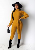 WGW Sexy Turtleneck Off Shoulder Bodycon Jumpsuits NY8876