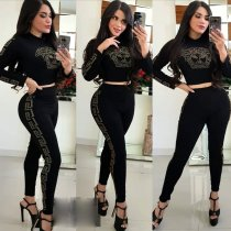 WGW Casual Long Sleeve Two Piece Pants Sets LQ5817