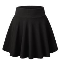 DJT FASHION Women's Basic Flared Casual Mini Skater Skirt with Shorts