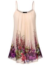DJT Women's Summer Pleated Front Casual Spaghetti Strap Sundress Beach Slip Sleeveless Vest Dress