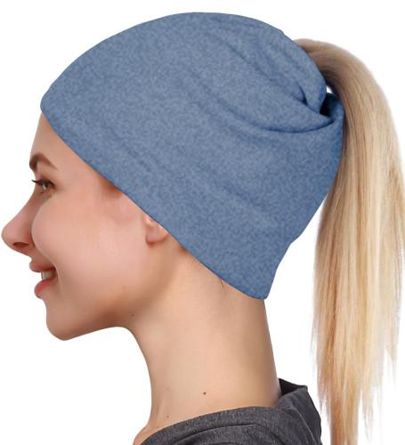 DJT FASHION Women's Classic Slouch Sports Hat Ponytail Beanie Hat