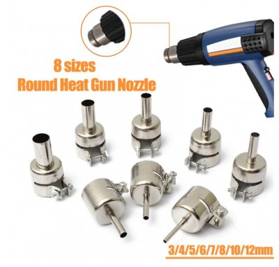 Heat Gun Nozzles Heat Air Guns Nozzle f 850//858 Hot Air Soldering Station 3-12mm