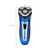 CkeyiN Triple Floating Blade Heads Rechargeable Electric Shaver Electric Shaving Razors Face Care Beard Trimmer for Men