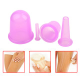 CkeyiN 1set/4pcs Silicone Neck Face Body Massage Cupping Cups